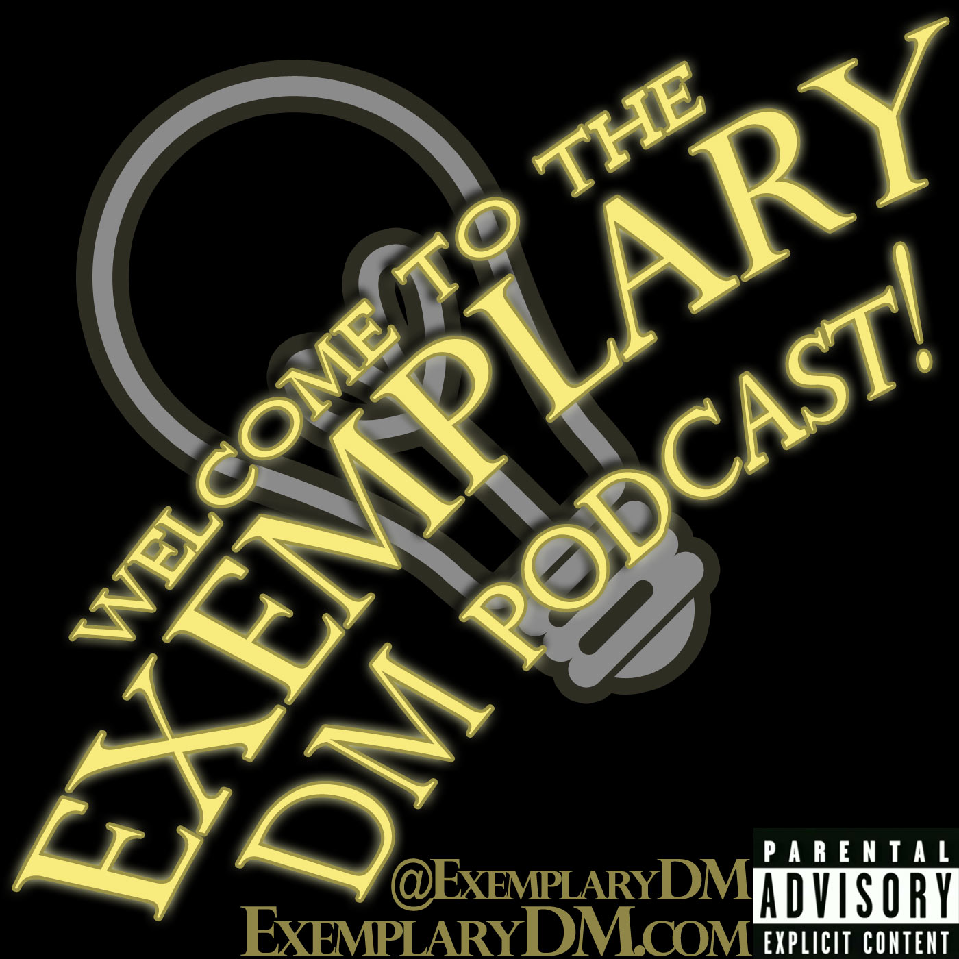 THE EXEMPLARY DM PODCAST logo